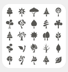 Tree icons set vector
