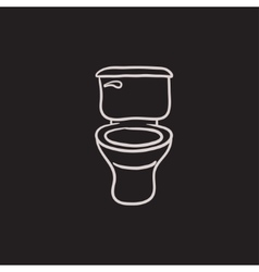 Lavatory bowl sketch icon vector