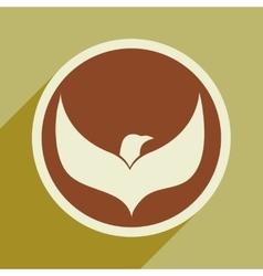 Logo flying eagle vector