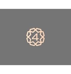 Premium number 4 logo icon design Luxury vector image