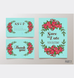 trendy card with roses for weddings save the date vector image
