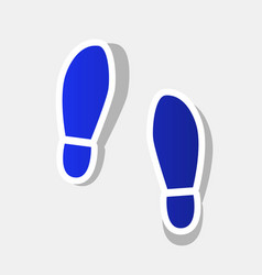Imprint soles shoes sign  new year bluish vector