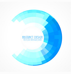 blue circular frame in mosaic style background vector image