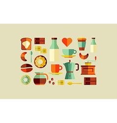 Coffee Shop icons vector image