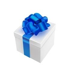 3d realistic present White vector image
