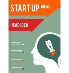 Business-themes head and startup vector