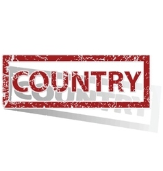 Country outlined stamp vector