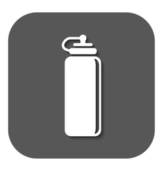 The sports water bottle icon bottle symbol flat vector