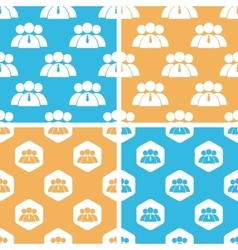 User group pattern set colored vector