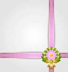 Wreath and ribbon spring decoration vector