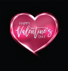 Neon Heart background for Valentines Day vector image