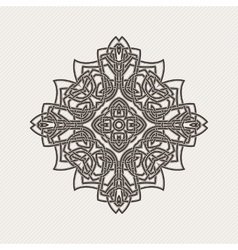 Mandala gothic lace tattoo celtic weave vector