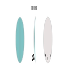 Surf gun board with three sides vector