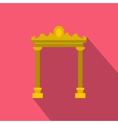 Ornamental arch icon flat style vector