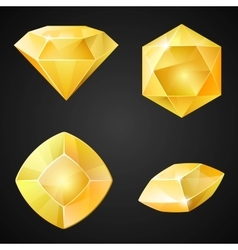 Set of yellow gemstones vector
