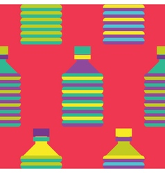Seamless bottle pattern colourful vector