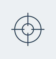 aim icon target symbol crosshair vector image vector image