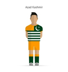 Azad Kashmir football player Soccer uniform vector image vector image