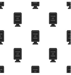Banner frame icon in black style isolated on white vector