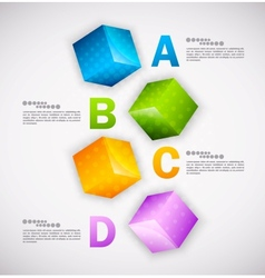 Cubes design infographic vector