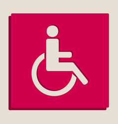 Disabled sign grayscale vector
