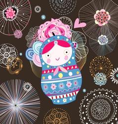 Flower doll vector image
