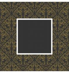golden floral pattern vector image vector image