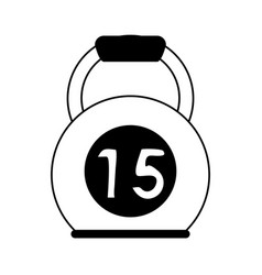 Kettlebell 15 weight icon imag vector