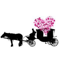 Love carriage on white background vector