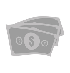 Money bills cash dollar gray color vector
