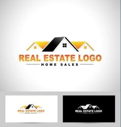 Real estate design house vector