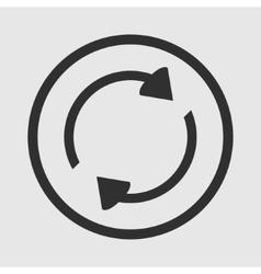 Refresh icon arrows vector image