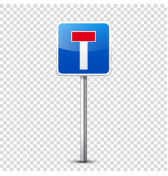 road blue signs collection isolated on transparent vector image vector image