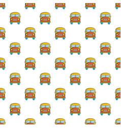 Schoolbus pattern seamless vector