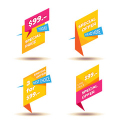 Set of modern sale stickers badge for online vector