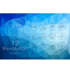 Set of revolution icons vector