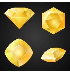 Set of yellow gemstones vector