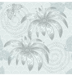 Silvery vintage seamless pattern vector image