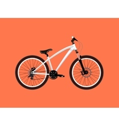 Sport white bicycle vector