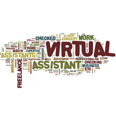 The concept of virtual assistance text background vector