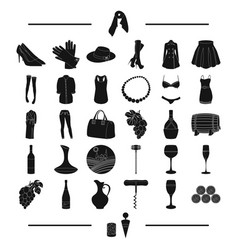 tools fruits textiles and other web icon in vector image