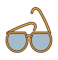 Yellow sunglasses fashionable beach sunny vector