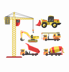Building and construction machinery equipment vector
