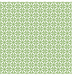tile pattern with green decoration on white vector image
