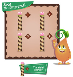 Spot the difference letters i vector