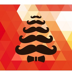 Christmas retro background with mustaches vector