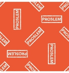 Orange problem stamp pattern vector