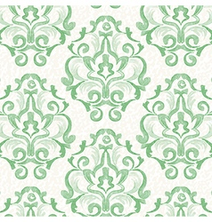 Watercolor green vintage floral seamless pattern vector