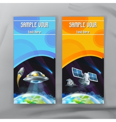 Set of space flyers brochure template design vector image