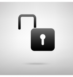 Unlock black icon vector